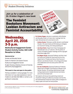 Kristen Hogan's book event flyer