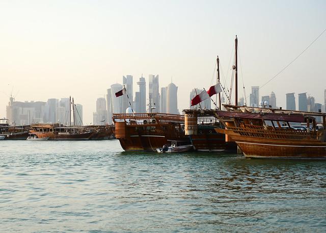 Barcos del puerto de Doha