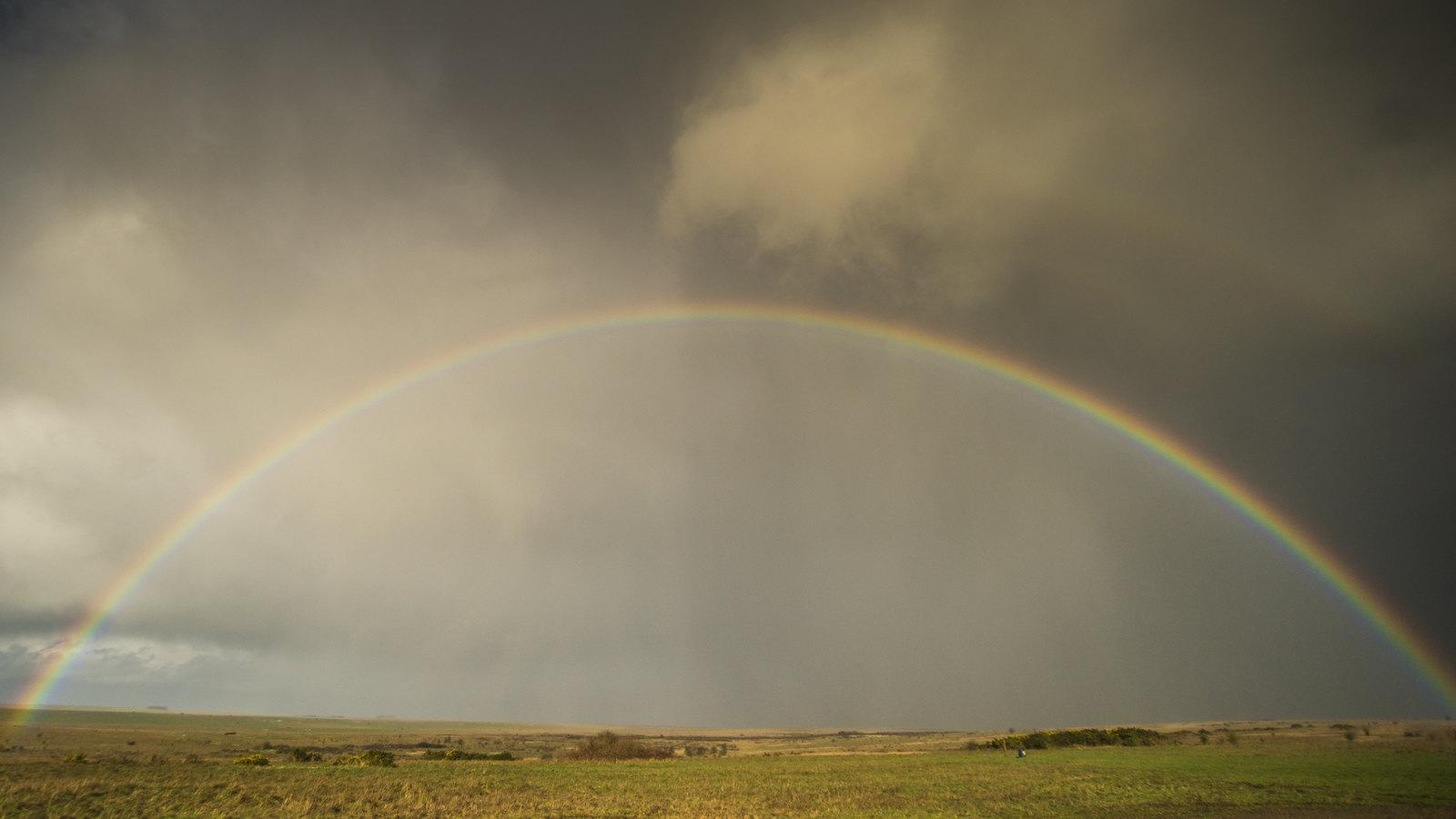 A full rainbow over the Plain