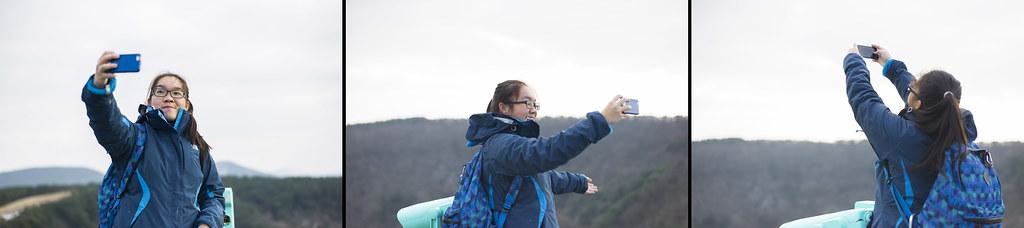 Ah Sing enjoying a nice selfie of herself at San Gumburi