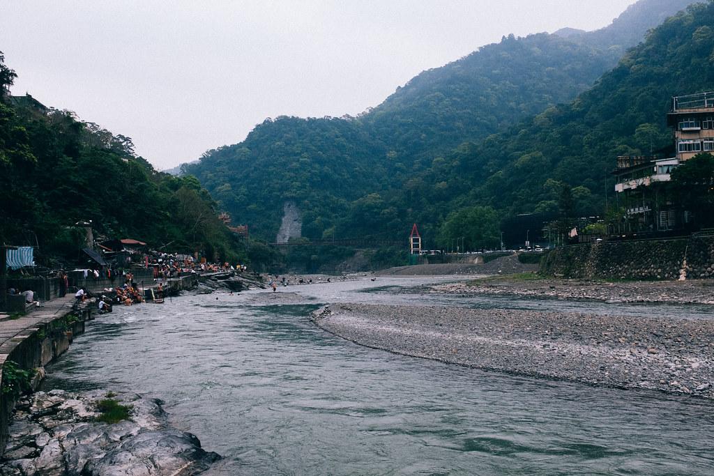 El río que cruza Wulai es el lugar ideal para disfrutar de unos hotspring