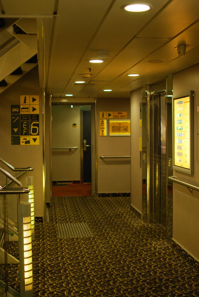 inside pont aven ferry