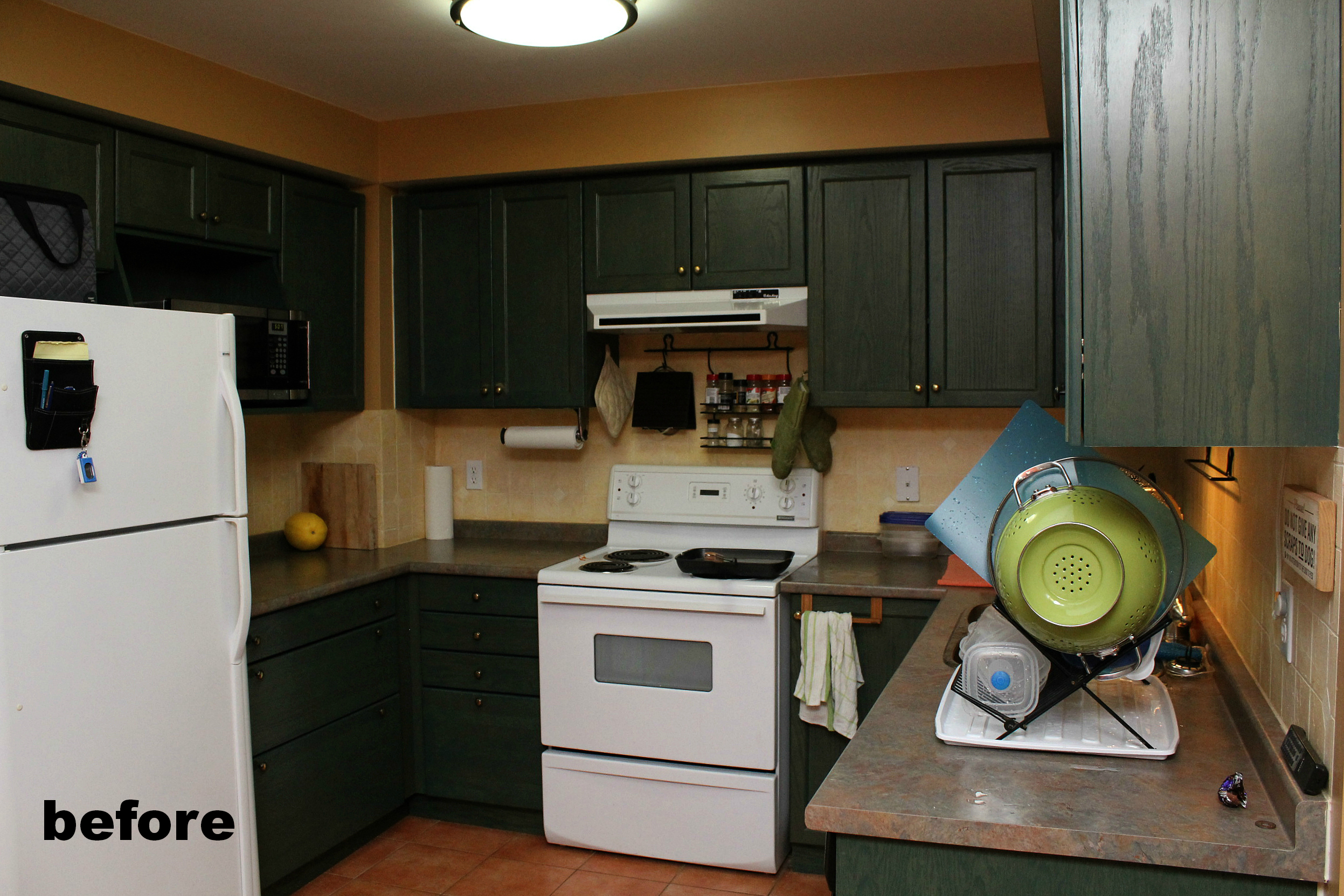 kitchen green cabinets