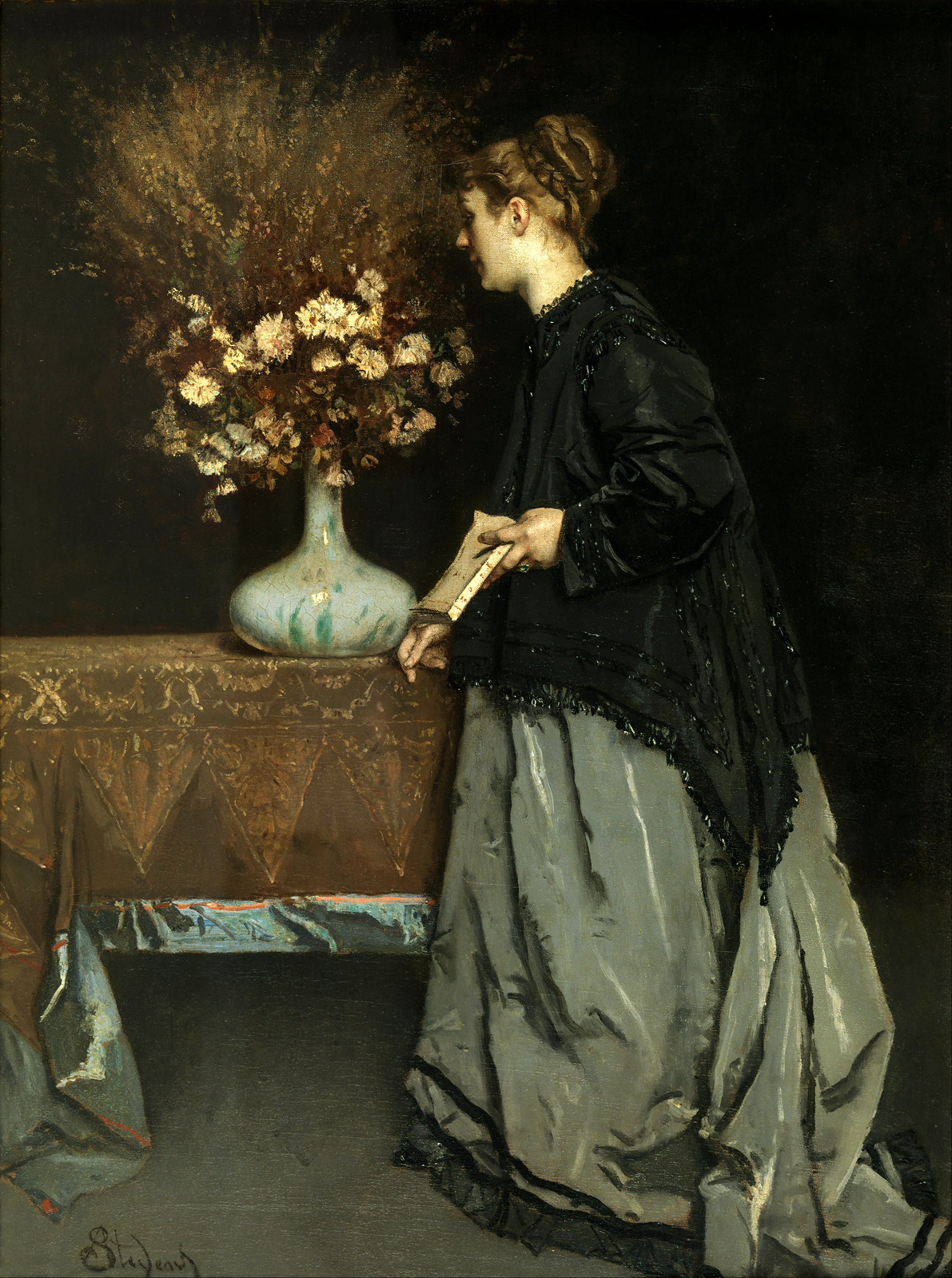 Autumn Flowers by Alfred Stevens, 1866