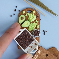 Miniature avocado brownies up on the blog http://ift.tt/1p7Br4K and on YouTube https://youtu.be/uxfUGFw8t-U 😎 // Time to get orders done now! Or fool around sculpting beetles 😄