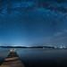 Tahoe City Nighttime Panorama