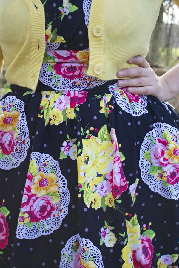 doily print dress floral