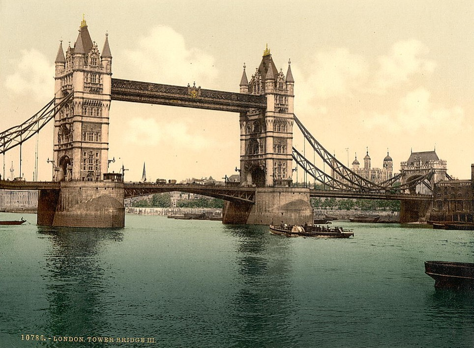 Tower Bridge, London, c.1895.