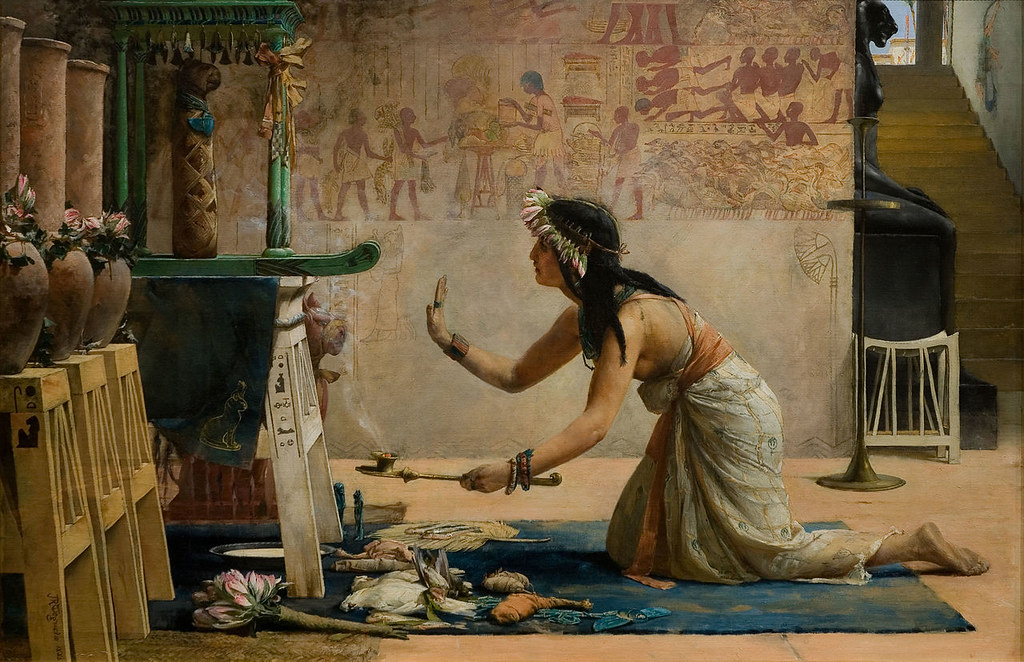 The Obsequies of an Egyptian Cat by John Weguelin, 1886