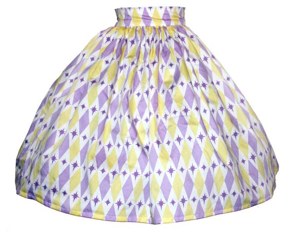 harlequin print skirt