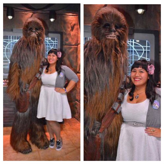 le fancy geek her universe hot topic princess leia dress chewbacca disneyland star wars season of the force disneybounding