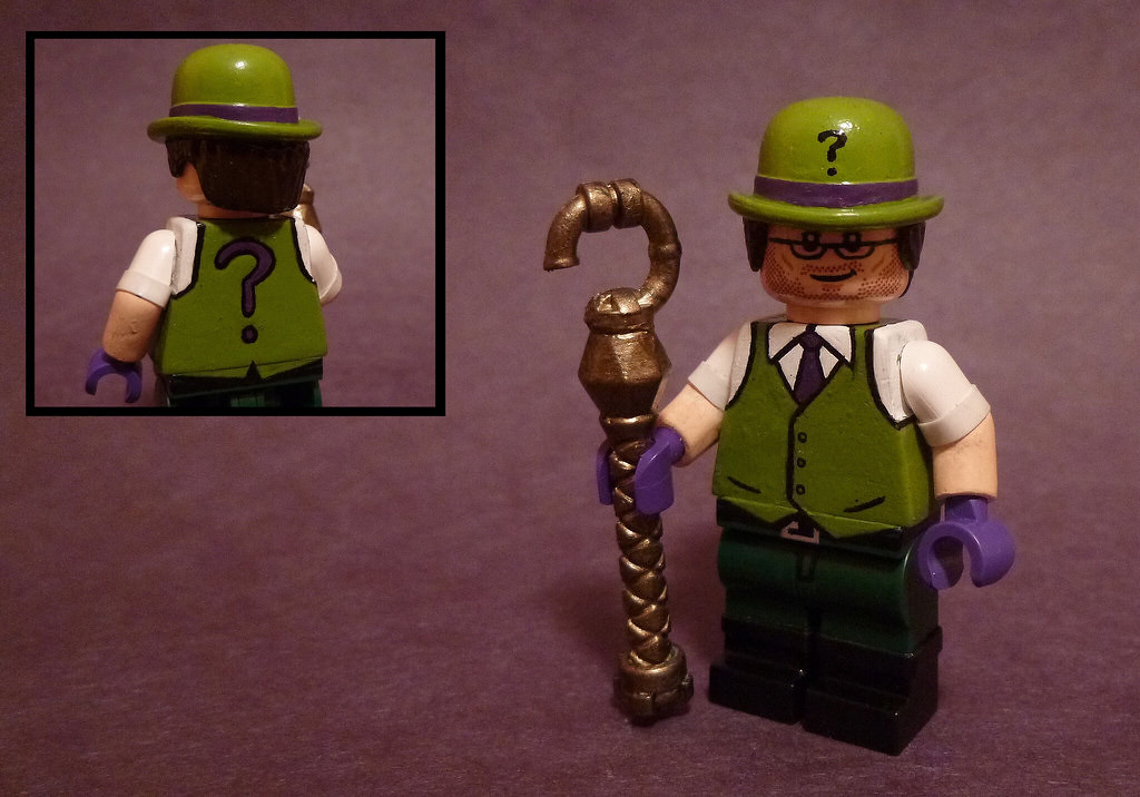 how to draw lego riddler