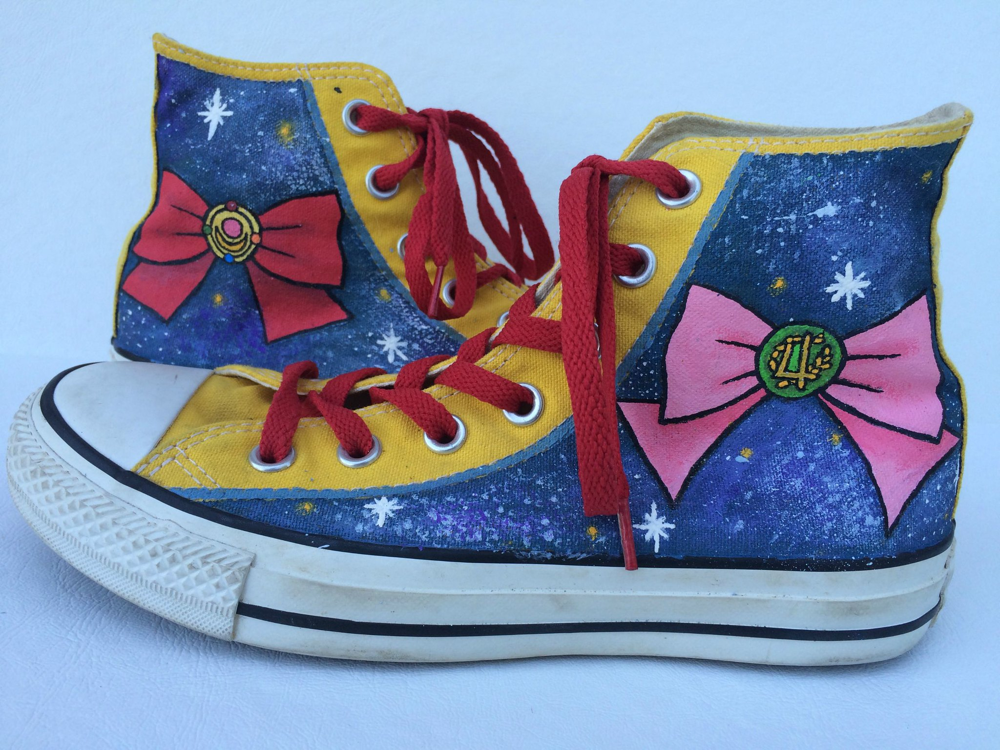 Sailor Moon sneakers by SheriffKarli