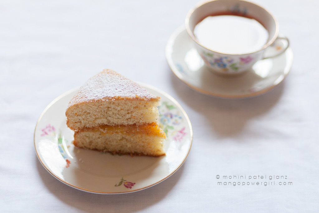 Tea & Slice of Cardamom Victoria Sandwich with Orange Curd