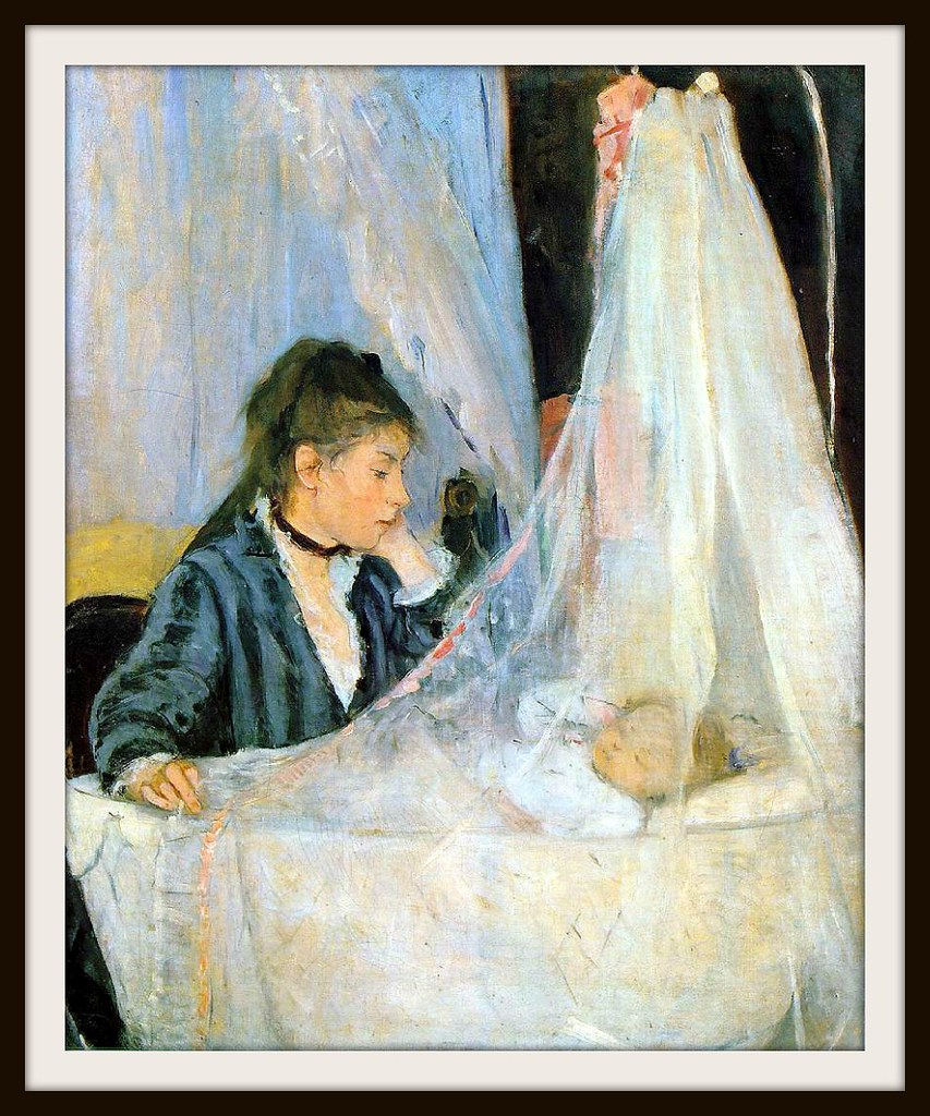 The Cradle by Berthe Morisot, 1872.