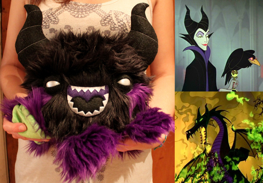 Maleficent plush by LoveAndASandwich
