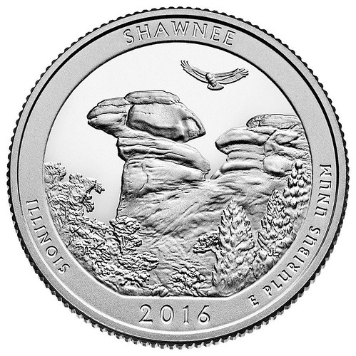 Shawnee National Forest's Camel Rock on the United States Mint's new America the Beautiful Quarter