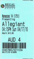 The Divergent Series: Allegiant ticketstub