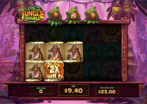 free Jungle Trouble bonus feature prize
