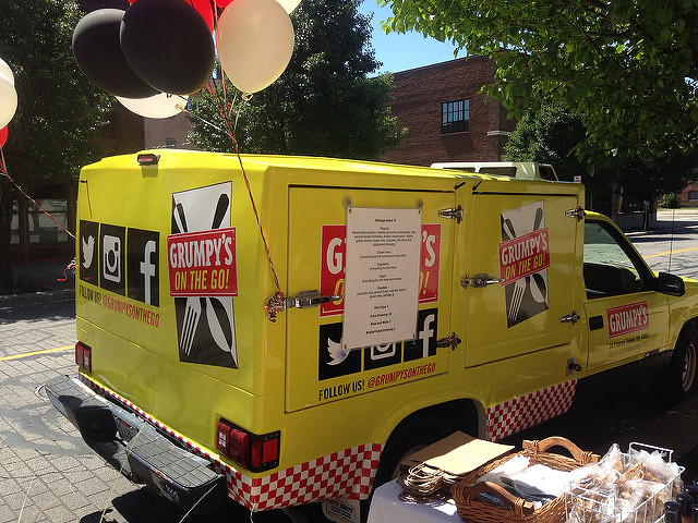 Grumpy's bright yellow food truck