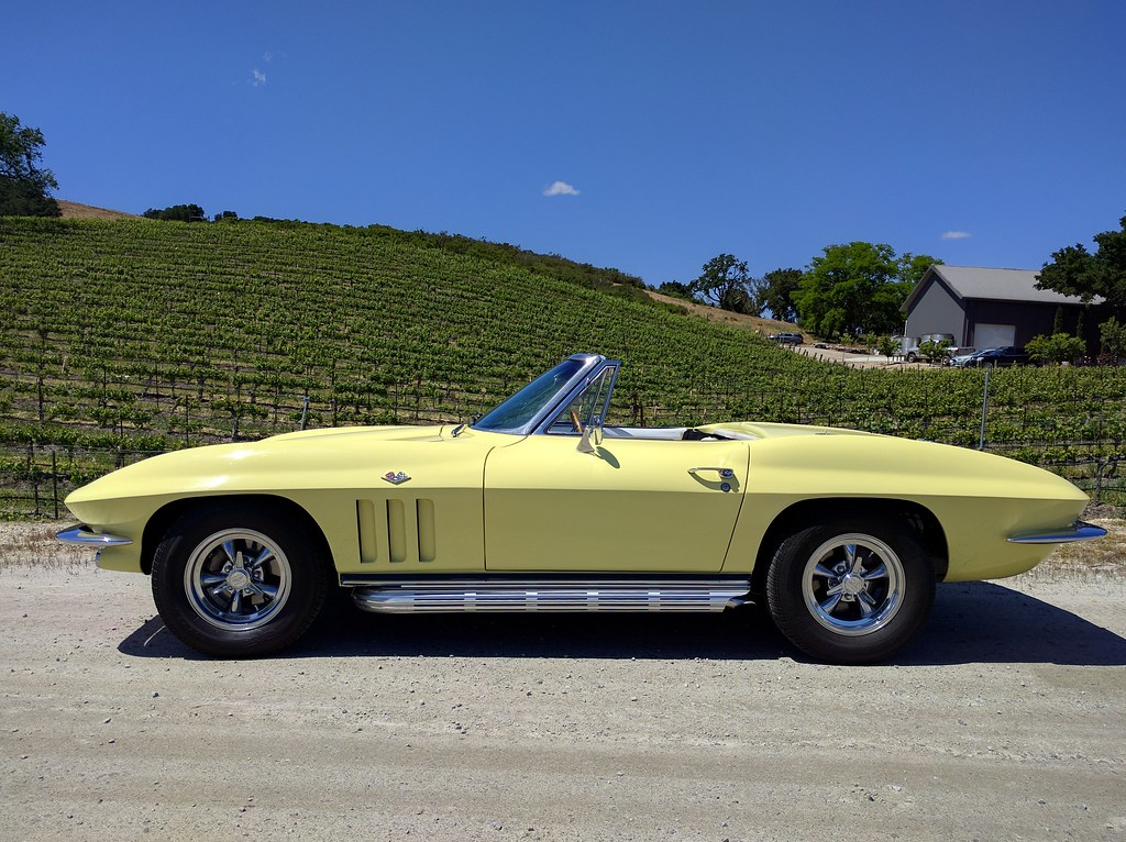 1965 Corvette C2 Convertible In Goldwood Yellow 327