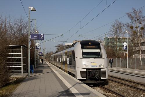 Desiro ML 460 514 erreicht den Münchner Bahnhof Siemenswerke