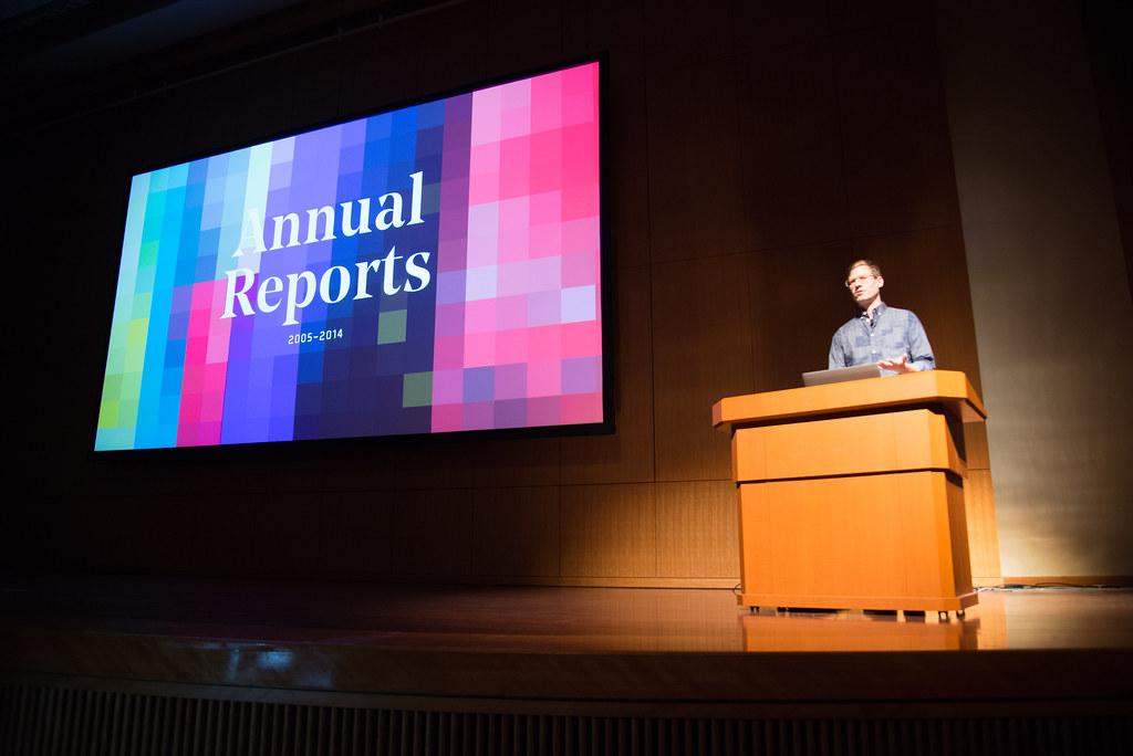 Annual Reportについて詳しく聞けました