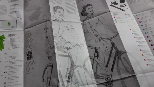 吉隆坡騎行樂腳車路線圖。攝影:林倩如。
