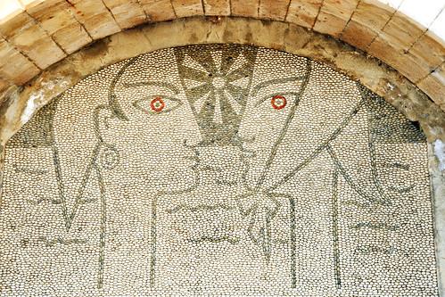 """Menton, 29. Februar 2016: In einer spätmittelalterlichen Festung (""""le Bastion"""") am Meer, auch """"Hafenfort"""" genannt, ist das Musée Jean Cocteau untergebracht. An unserem Menton-Tag, ein Montag, hatte es geschlossen. Im Museum sind verschieden Werke, darunter Mosaiken, Teppiche, Zeichnungen, Aquarelle, Gouachen ... des Dichters, Regisseurs und Malers Cocteau zu sehen, der übrigens 1958 den Hochzeitssaal (Salle de Mariage) des Mentoner Rathauses gestaltet hat Foto Brigitte Stolle 2016"""