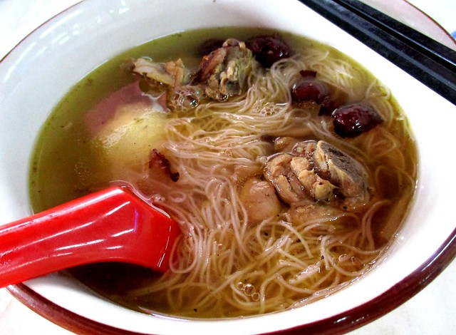 Bateras Food Court chicken soup mee sua