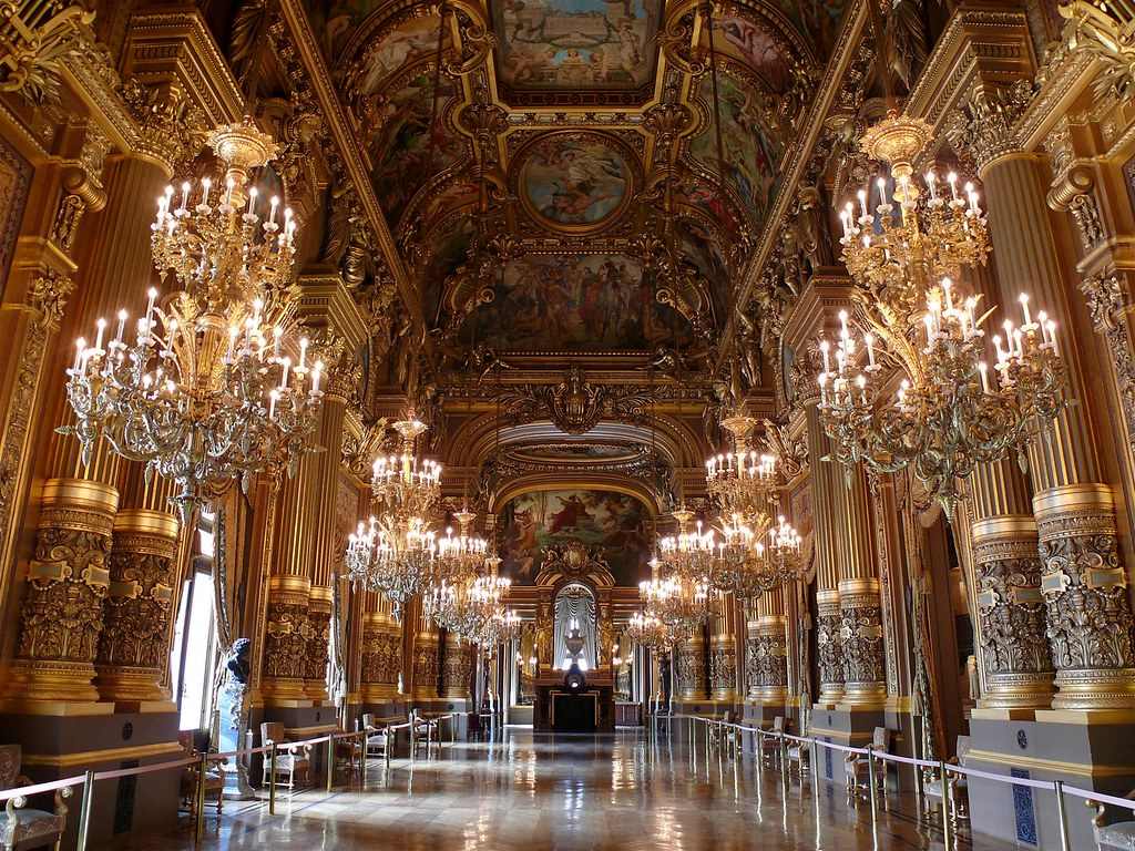 The Grand Foyer of the Opera Garnier, Paris. Image credit Degrémont Anthony.