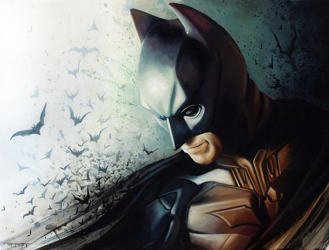 Christian Bale Batman by Ben Jeffery