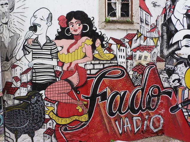 Graffiti de las escadinhas de Sao Cristovao (Mouraria, Lisboa)