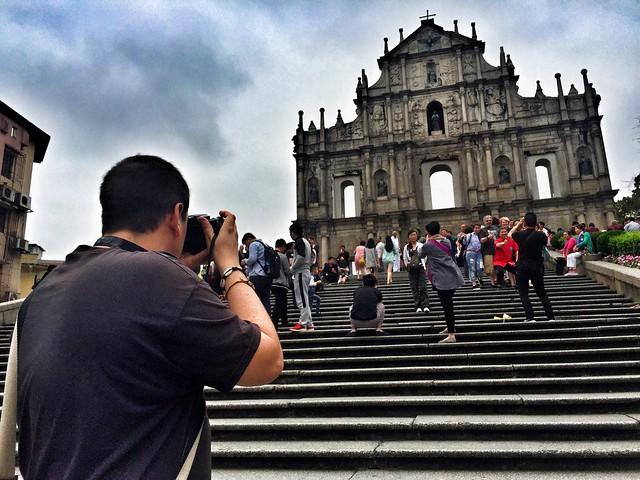 Sele en las ruinas de Sao Paulo de Macao