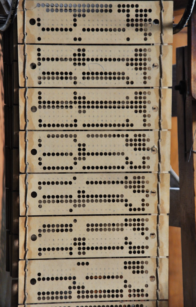 punched cards from a jacquard loom