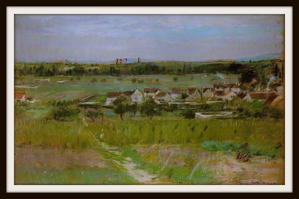 The village of Maurecourt by Berthe Morisot, 1873.