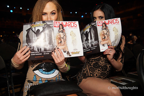 Carter Cruise and Aiden Ashley; all coy