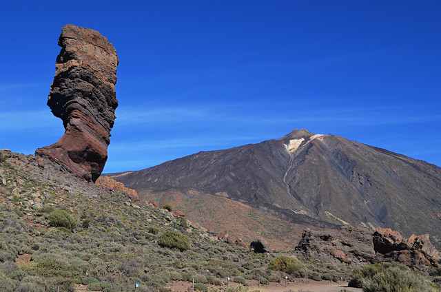Mount Teide and Roque Cinchado, Teide National Park, Tenerife