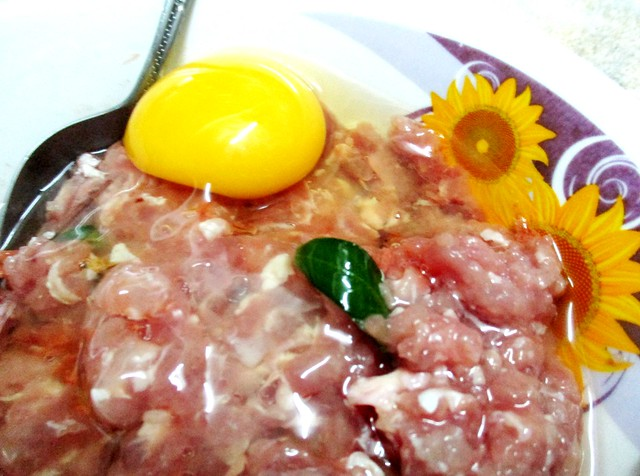 Steamed minced pork with cincaluk 2