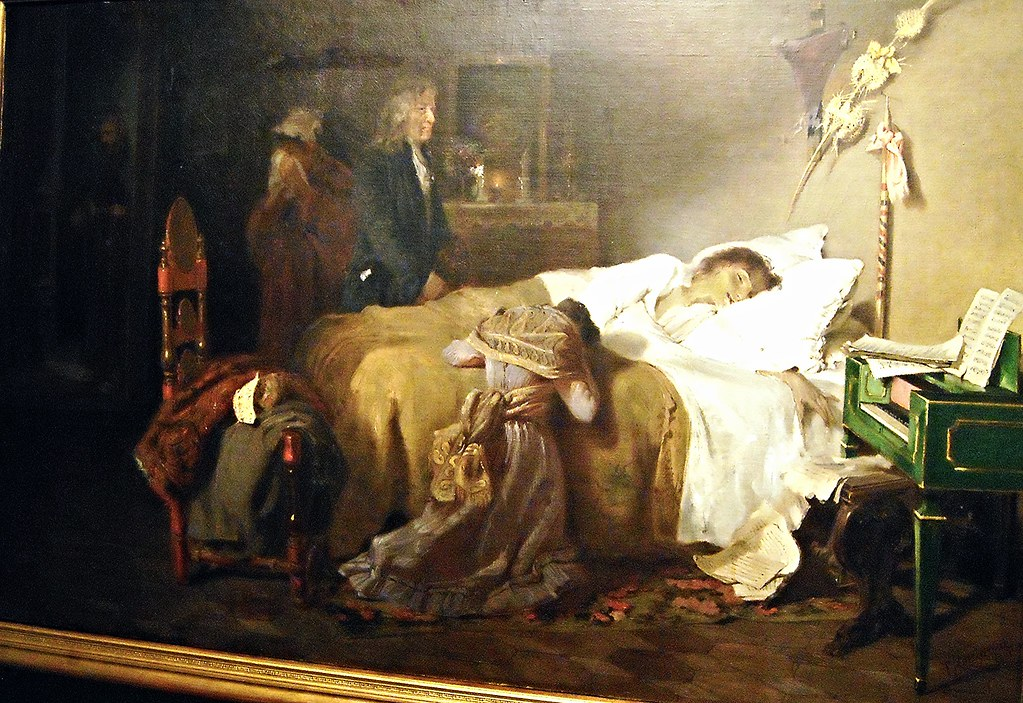 """Death of Giambattista Pergolesi"" (1891) by Gustavo Naccia ..."