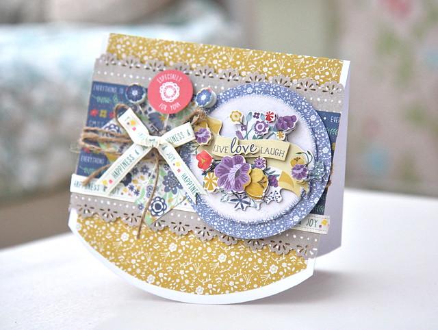 Folk Floral rocker card by StickerKitten