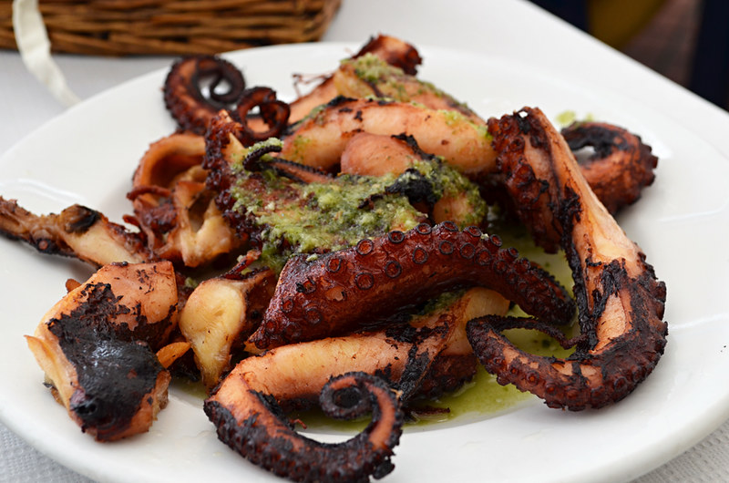 Octopus and mojo, Agaete, Gran Canaria, Canary Islands