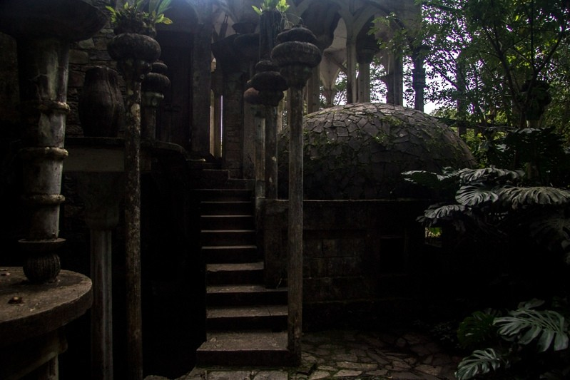 Surrealist ruins in the jungle
