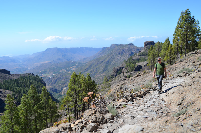 Walking above Tunte, Gran Canaria, Canary Islands