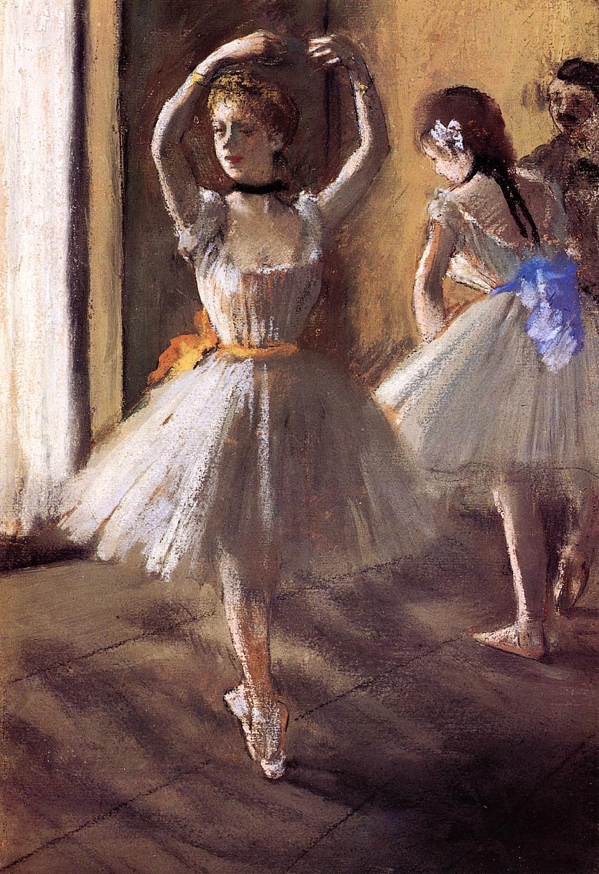 Two Dancers in the Studio (also known as Dance School) by Edgar Degas, c.1875