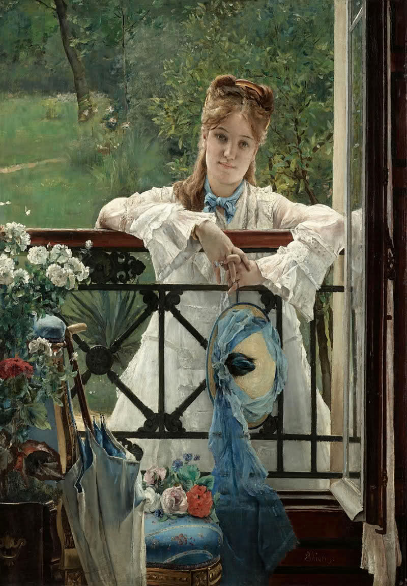 The Blue Ribbon by Alfred Stevens, 1823-1906 Credit Giacasso