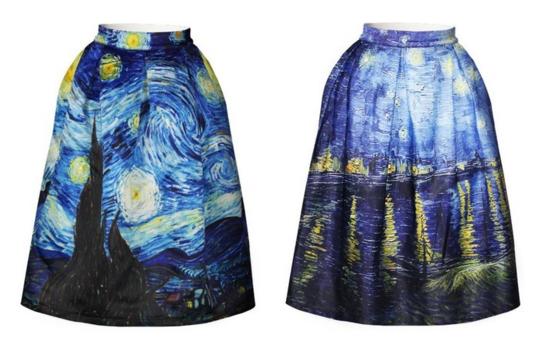 van gogh skirts