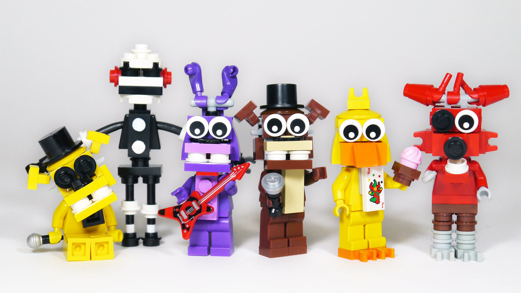 Lego 5 Nights At Freddy S Toys : Lego five nights at freddy s animatronics doublefig flickr