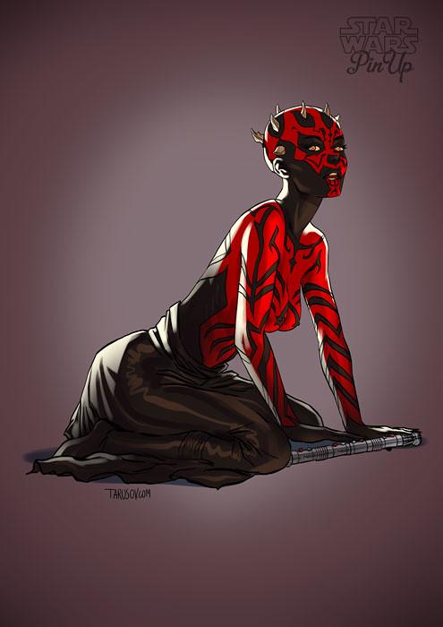 Star Wars pin-up Darth Maul by Andrew Tarusov