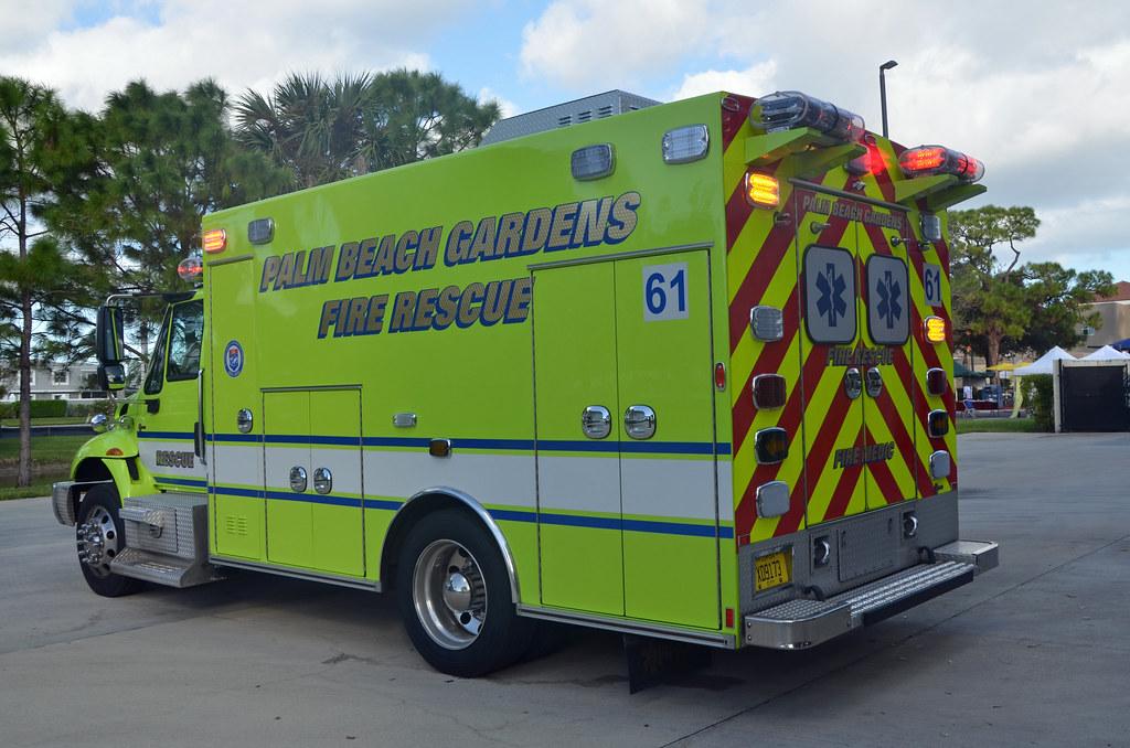 Palm Beach Gardens Fire Rescue Rescue 61 Palm Beach